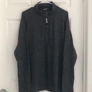 Level Wear Poly Cotton 1/4 Zip Lightweight Sweater